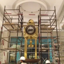 Clock construction in progress at the hotel in Dubai UAE