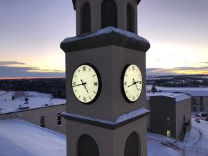 Burman University's New Custom Canister Tower Clocks