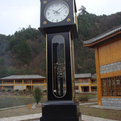18 foot tall mechanical street clock in a National Park in China south of Xi'an