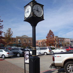 Arlington TX jewlery store four sided street clock