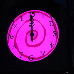 RGB LED canister clock, Manchester TN