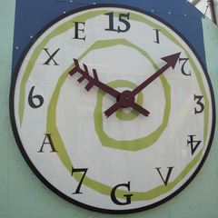 Unique clock face for the Bonnaroo Music Festival in Manchester, TN