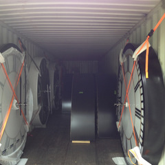 Shipping container full of clocks bound for client in KSA Saudi Arabia