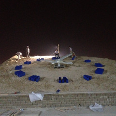 DMG clock in UAE under construction