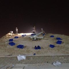 DMG clock in UAE under construction