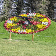 International Peace Garden floral clock