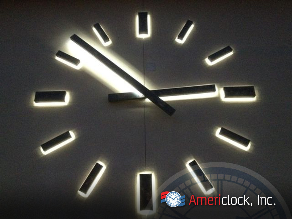 Marker clocks photo gallery americlock - Digital illuminated wall clocks ...