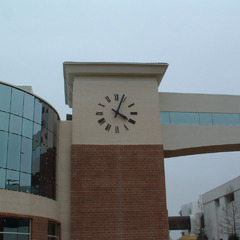Hospital tower clock 12' diameter, Hattisburg MS