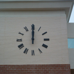 Surface mounted clock numbers, Hattiesburg MS