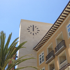 Huntington Beach Bella Terra appartments clock, Huntington Beach CA