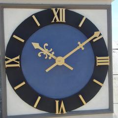 Custom silhouette clock at The Crossings Tyler Texas