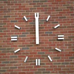 Custom clock numbers Wildwood City Hall clock, Wildwood MO