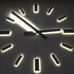 Illuminated clock at night, Las Vegas NV