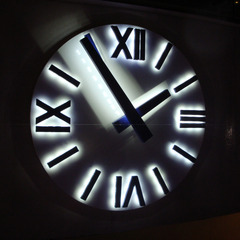 Hilton San Diego Bayfront hotel clock with custom LED lights, San Diego CA