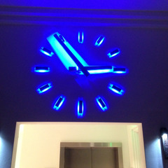 West Palm Beach clock with custom blue LED lights