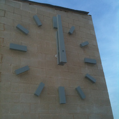 Projecting clock numbers with rear illumination, Newark NJ