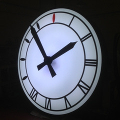 Manila Philippines custom canister clock with LED lights