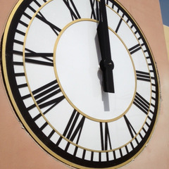 ASU Bahrain clock with Gold and Black