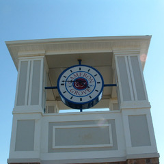 Cameron Groves, Baltimore area clock tower with custom logo