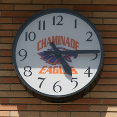 Chatsworth CA canister clock with custom logo