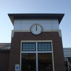 Williamsburg IA library clock tower