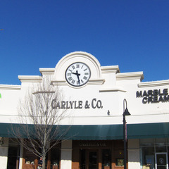 Jewelry store shopping center clock
