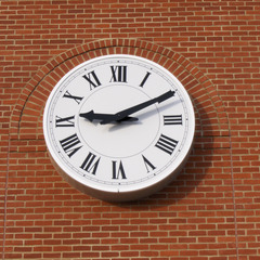 Independence WI white drum clock