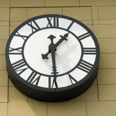 Store front clock