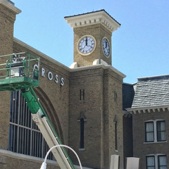 Universal studios custom clock faces with LED lights