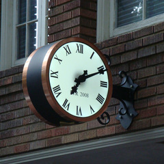 Copper clad custom bracket clock with scroll work