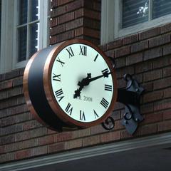 Copper clad custom bracket clock with scroll work