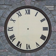 Ivory wall clock face with custom trim