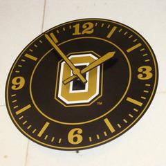 Oakland University logo clock, Rochester MI