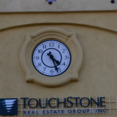 Paso Robles, CA retail center clock