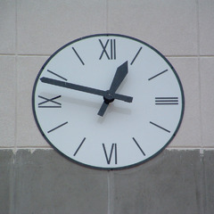 Chicago IL shopping center clock