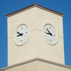 San Bernardino cell phone tower clocks
