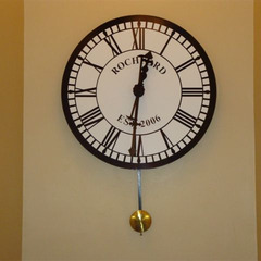Clock with pendulem, Redlands CA