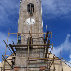 Grenada West Indies church clock tower