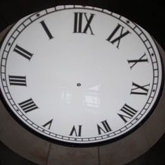 Back view of a 7' clock