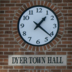 Town hall clock, Dyer IN