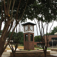 University clock tower, High Point NC