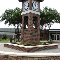 Brick university tower clock, High Point NC