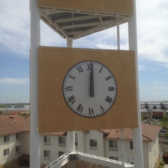 Cell phone tower clock, Manteca CA
