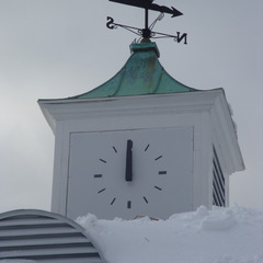 Corona park boathouse cupola clock, Queens NY