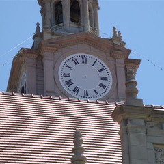 Dallas county courthouse clock during clock restoration, Adel IA