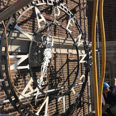 Carefully removing historical skeleton clock