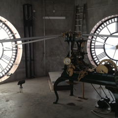 Maintenance of Old Red Courthouse clock, Dallas Texas
