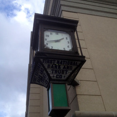 McClintock clock restoration before photo, Woodbury NJ courthouse