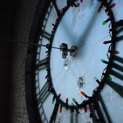 Memorial Union hall clock before picture, Walla Walla Washington