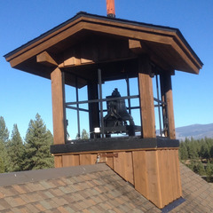 Swinging bell with motor and bell clapper, Truckee CA